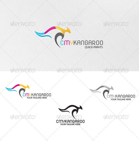 CMY-Kangaroo - Logo Template