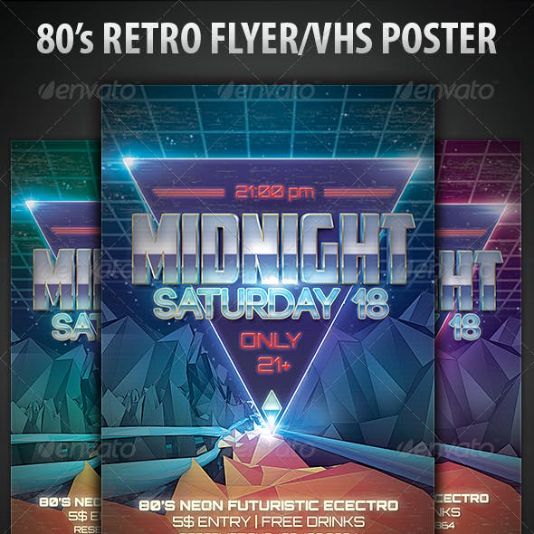 80's Retro Flyer/VHS Poster