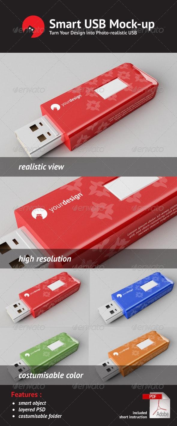 Usb Flash Disk Mock Up - Miscellaneous Product Mock-Ups