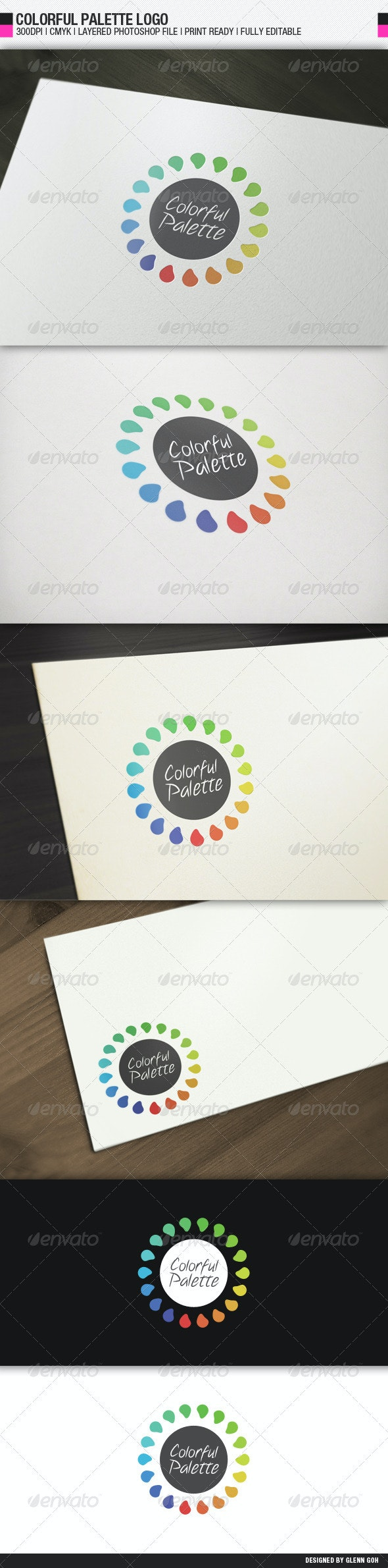 Colorful Palette Logo - Objects Logo Templates