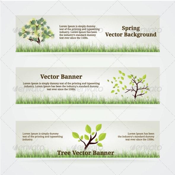 Banners Set - Nature Conceptual