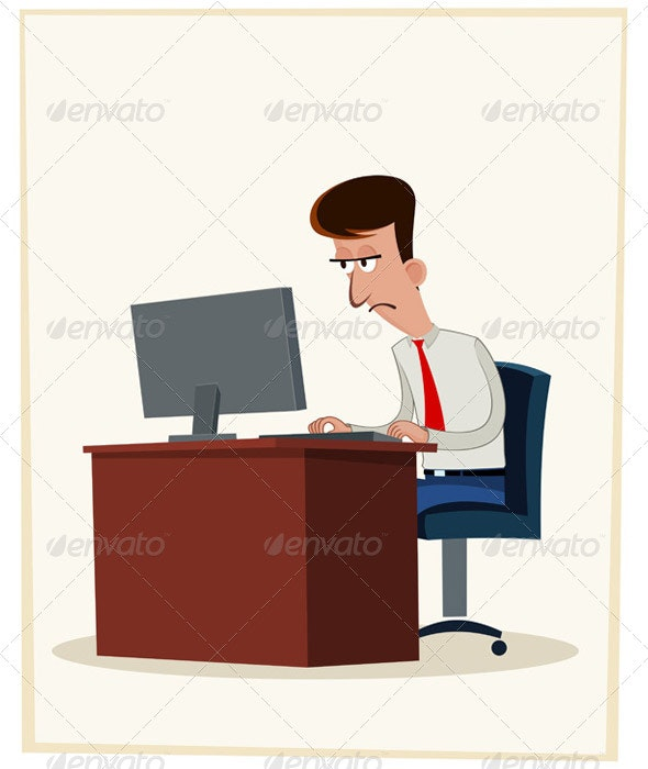 Tired Worker - Concepts Business