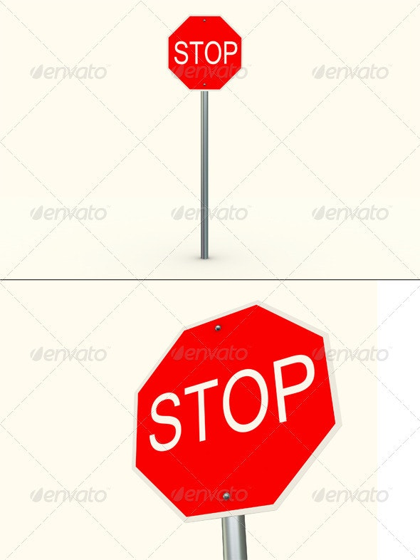 Stop Sign - Objects 3D Renders