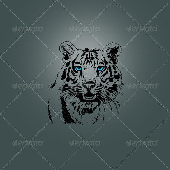 Tiger Head Design - Animals Characters