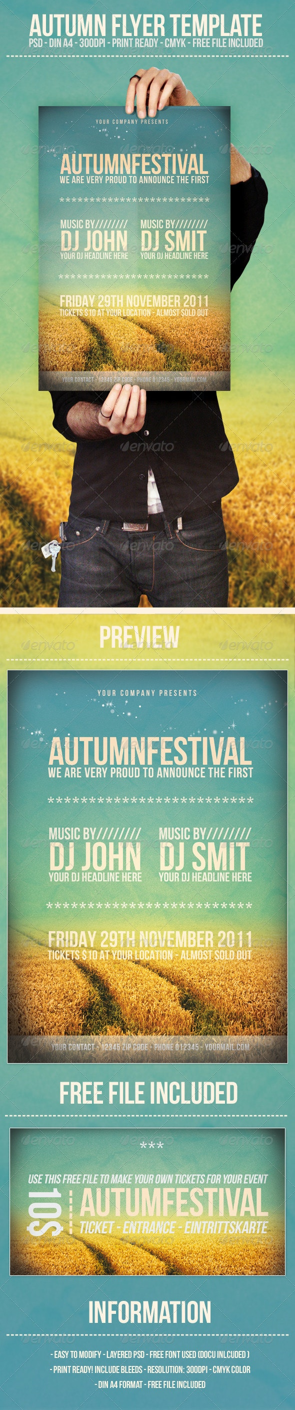 Autumn - Flyer Template - Clubs & Parties Events