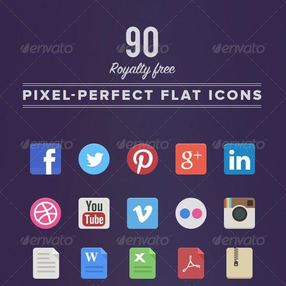 90 Royalty Free Flat Icons