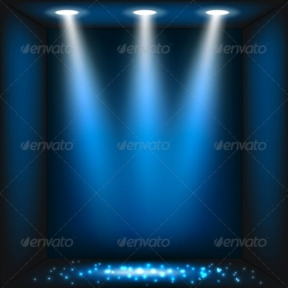 Abstract Dark Blue Background