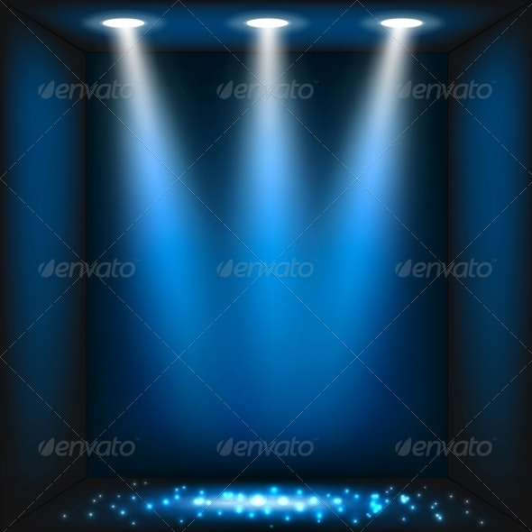 Abstract Dark Blue Background - Miscellaneous Vectors