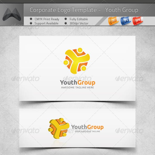 Youth Community - Young Group - Logo Template