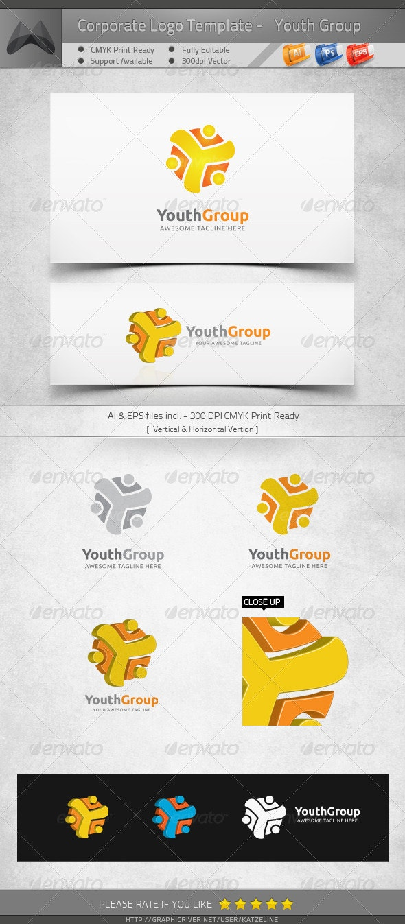 Youth Community - Young Group - Logo Template - Humans Logo Templates
