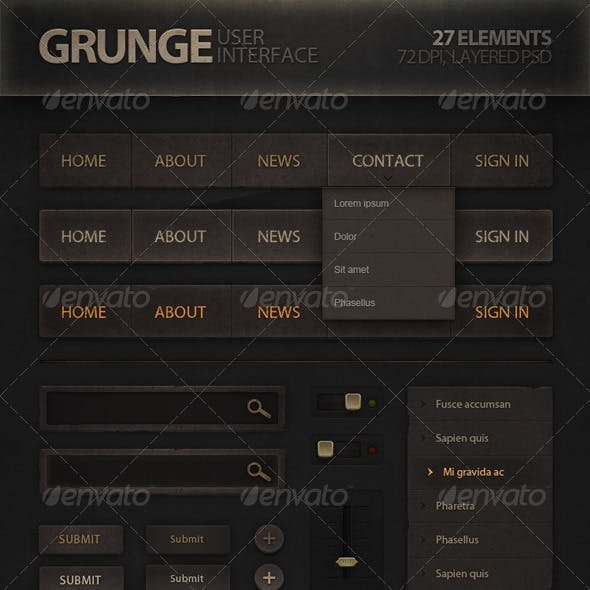 Grunge User Interface