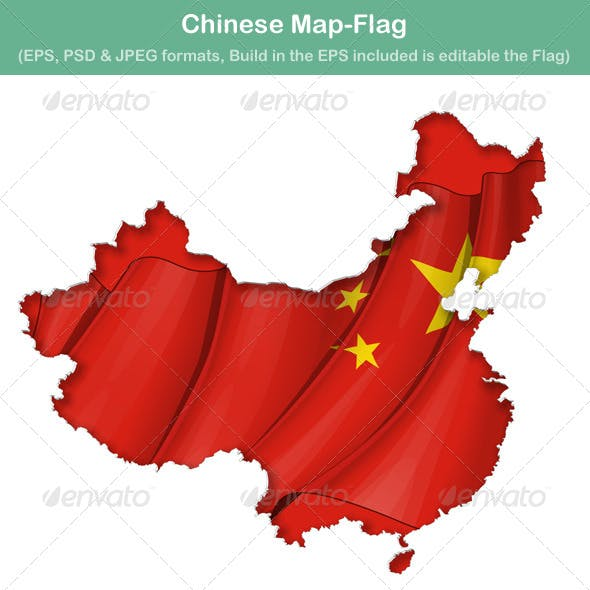 Chinese Map-Flag