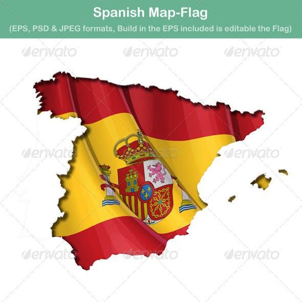 Spanish Map Flag