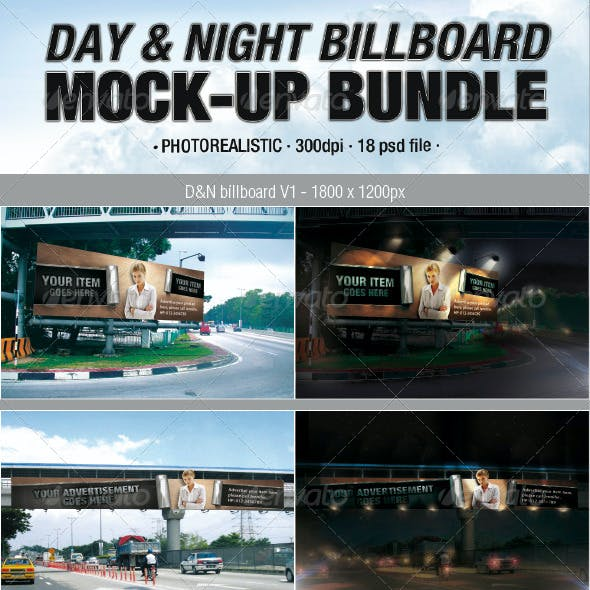 Day & Night Billboard Mock-Up Bundle