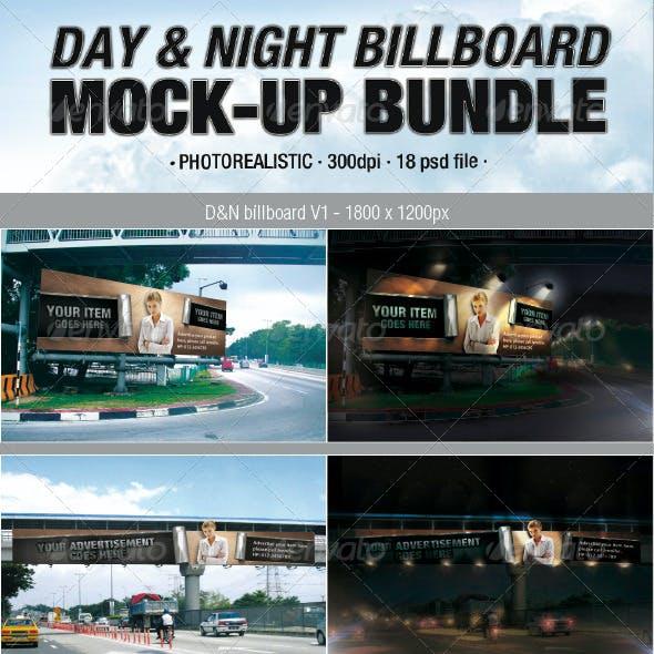 Day & Night Billboard Mock-Up Bundle