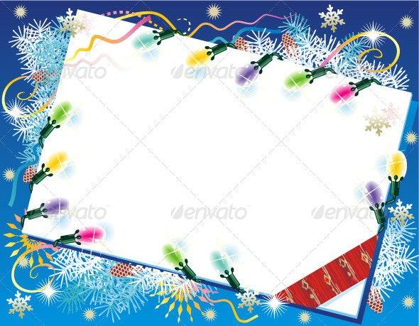 Christmas Card Background - New Year Seasons/Holidays