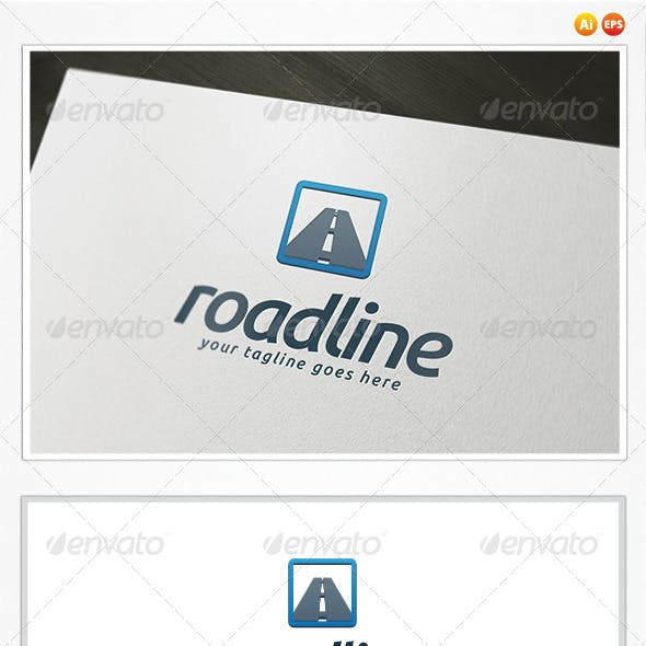 Road Line Logo Template