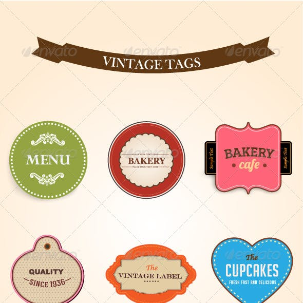 Style Vintage Labels Collection 1