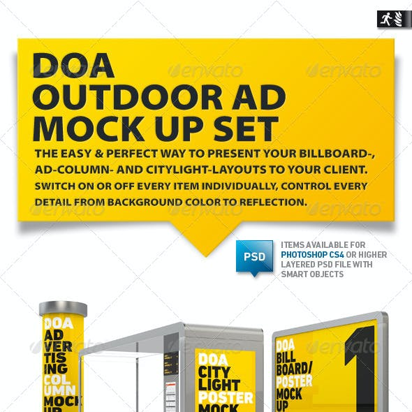 DOA Outdoor Mock Up Set