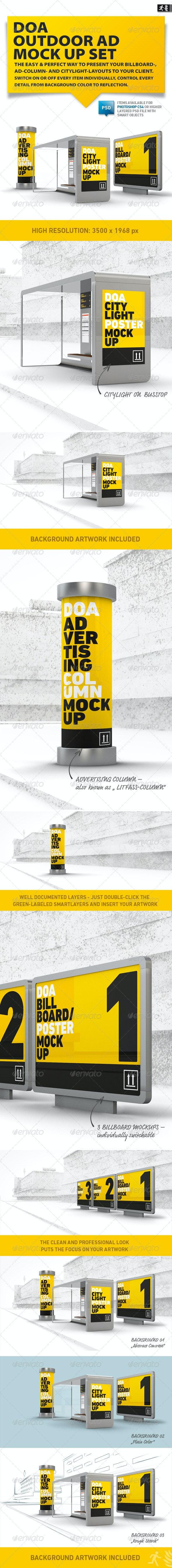 DOA Outdoor Mock Up Set - Signage Print