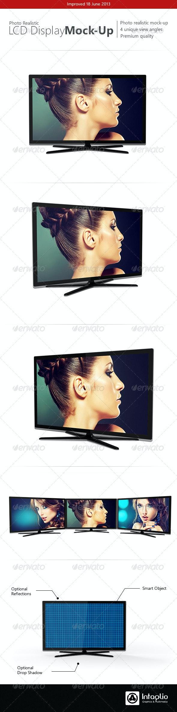 Photorealistic LCD Mock-Up - TV Displays