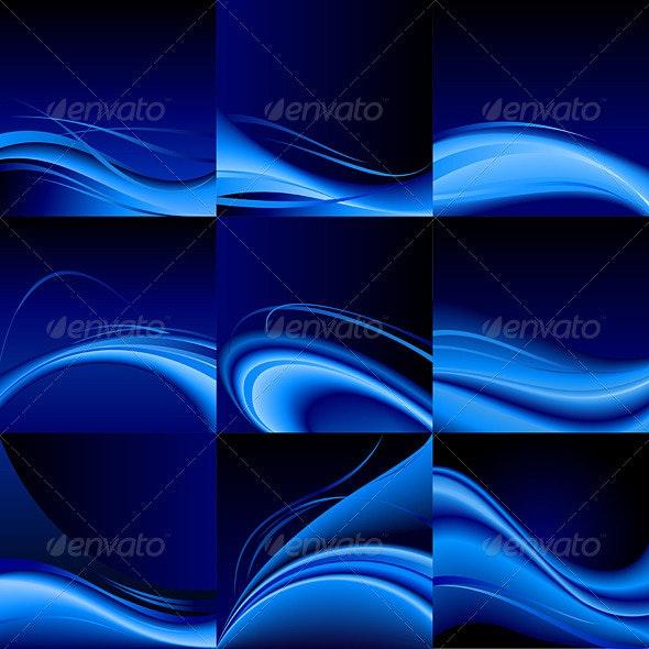 Blue Waves - Backgrounds Decorative