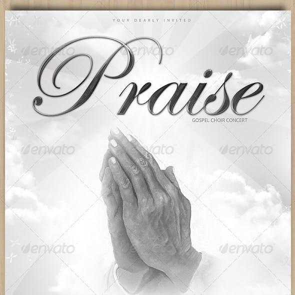 Praise Gospel Choir flyer