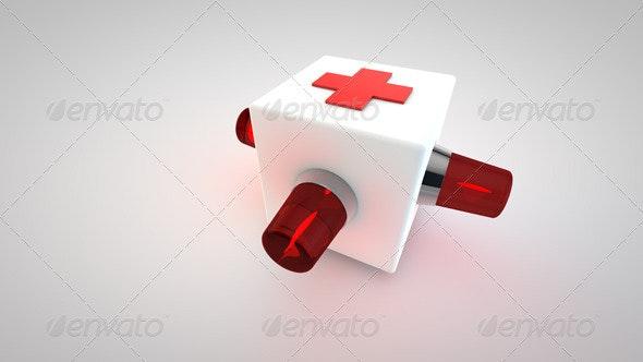 3D Cross Ambulance Symbol - Objects 3D Renders