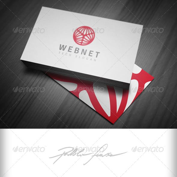 Circular Web Logo - Network Hosting Logo - IT Logo