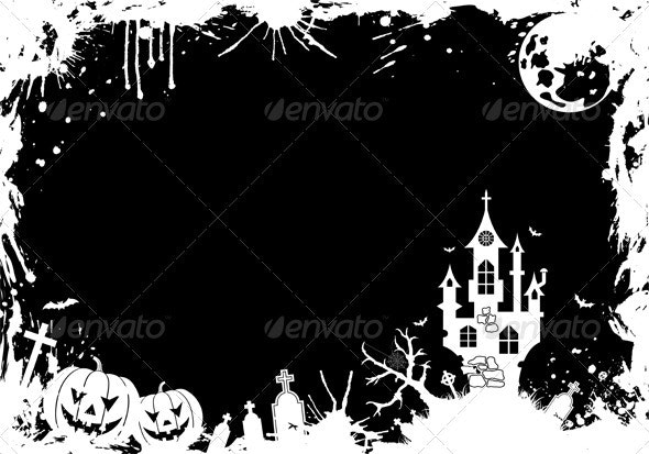Grunge Halloween frame - Halloween Seasons/Holidays