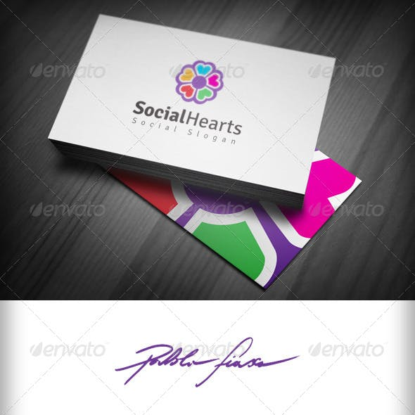 Social Hearts - Social-Group Logo - Community Logo