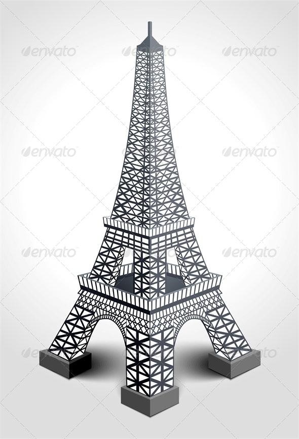 Eiffel Tower - Buildings Objects