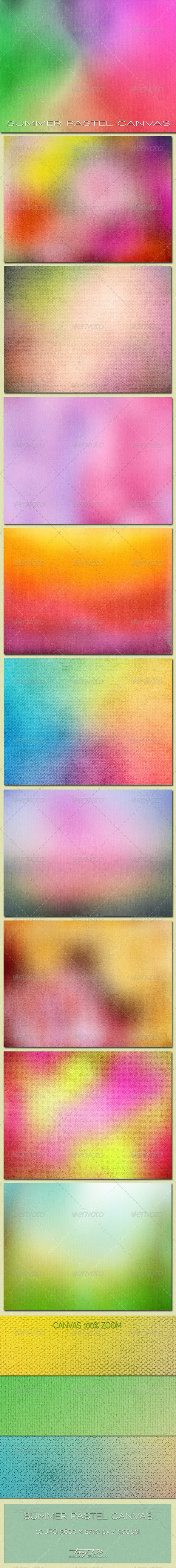 Summer Pastel Canvas - Abstract Textures