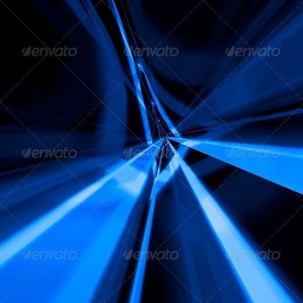 Beams of Blue Light