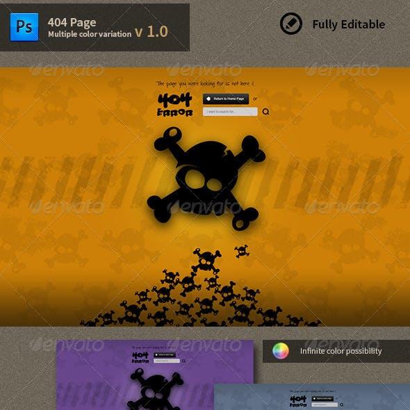 404 Error Page. Skull