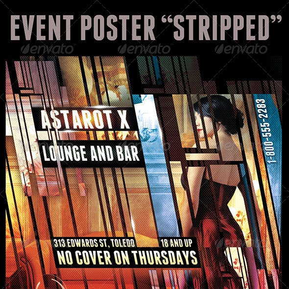 """Event Flyer """"Stripped"""""""