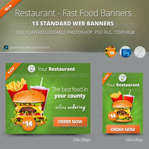 Restaurant - Fast Food Banners