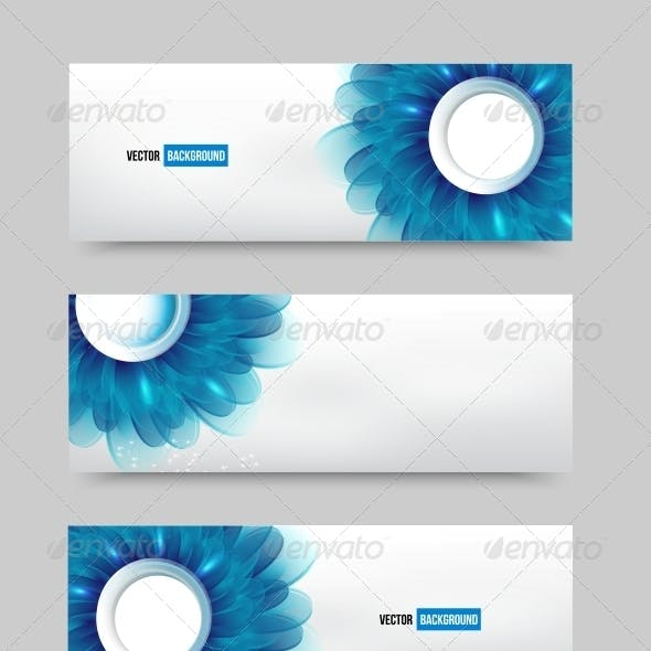 Blue Flowers Banners