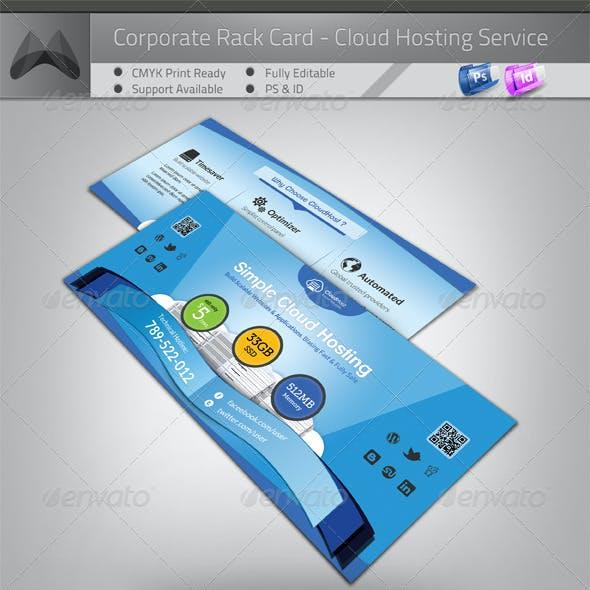 Cloud Hosting Service - Rack Card/Flyer Template