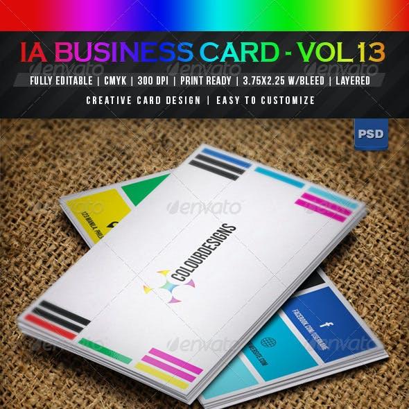 IntenseArtisan BUSINESS CARD VOL.13