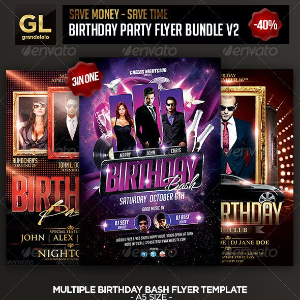 Birthday Flyer Bundle 2.0