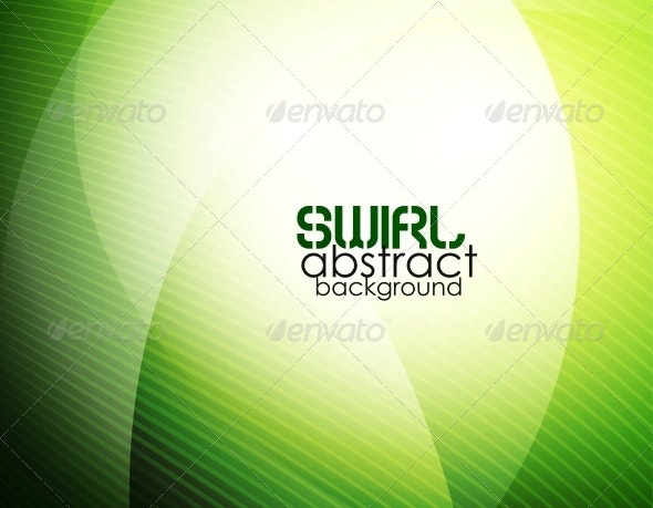 Abstract Green Waves - Backgrounds Decorative