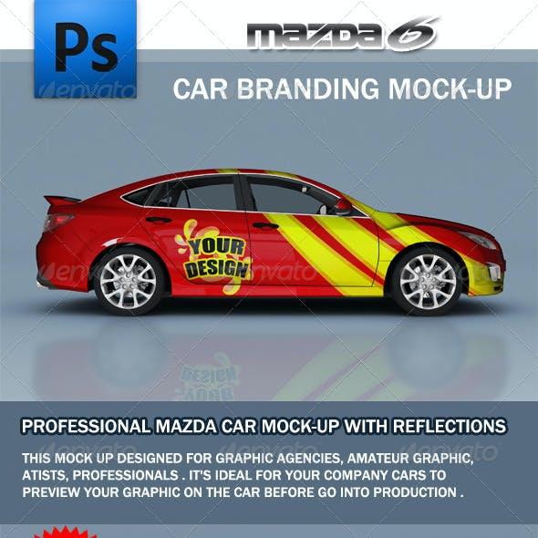 Mazda Car Branding Mock-up