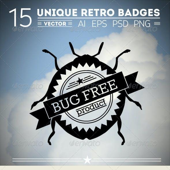 15 Unique Retro Badges
