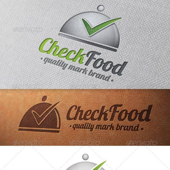 Gourmet Tick Check Mark Logo Template