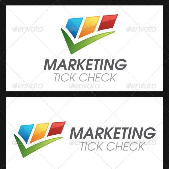 Marketing Tick Check Mark Logo Template