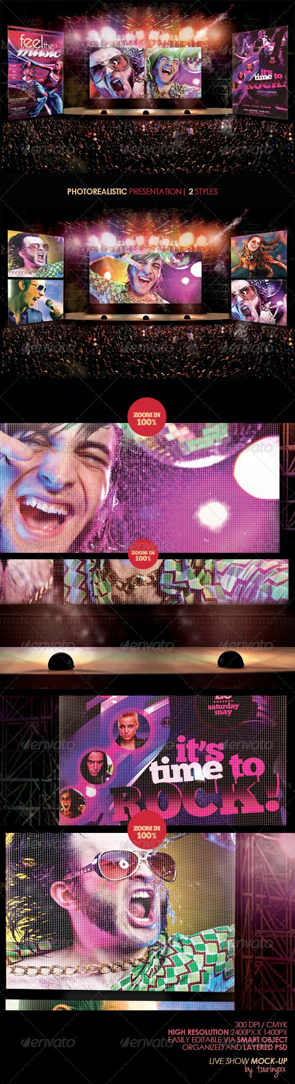 Live Show Mock-Up - Product Mock-Ups Graphics