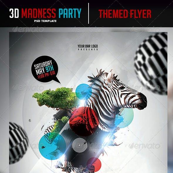 3D Madness Flyer Template