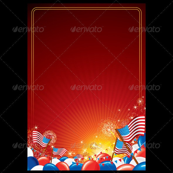 American Celebration Vector Background - Seasons/Holidays Conceptual