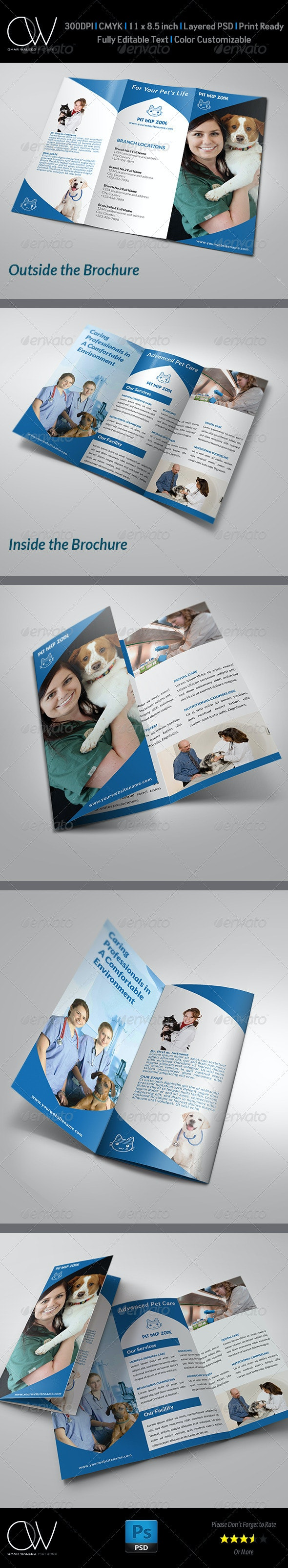 Veterinarian Clinic Brochure Template - Brochures Print Templates